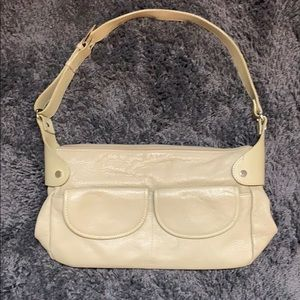 MAXX New York Large Cream Genuine Leather Bag 👜